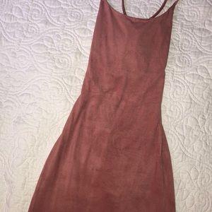 Wet Seal Dresses - Mauve Faux Suede Dress